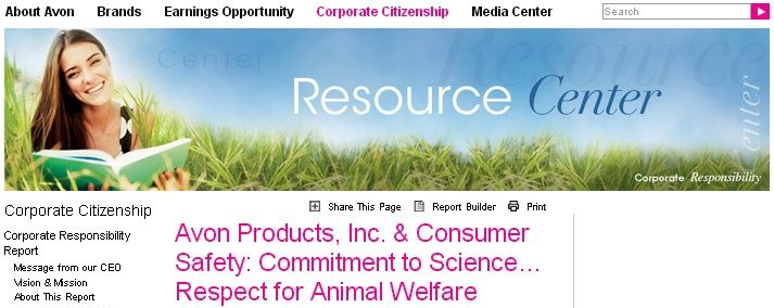 A V O N 's Policies and Procedures regarding Animal Welfare